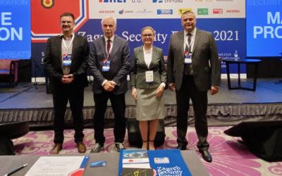 Naši nastavnici Mladen Vedriš, Natalija Parlov Una i Željko Sičaja na međunarodnoj konferenciji o hibridnim prijetnjama